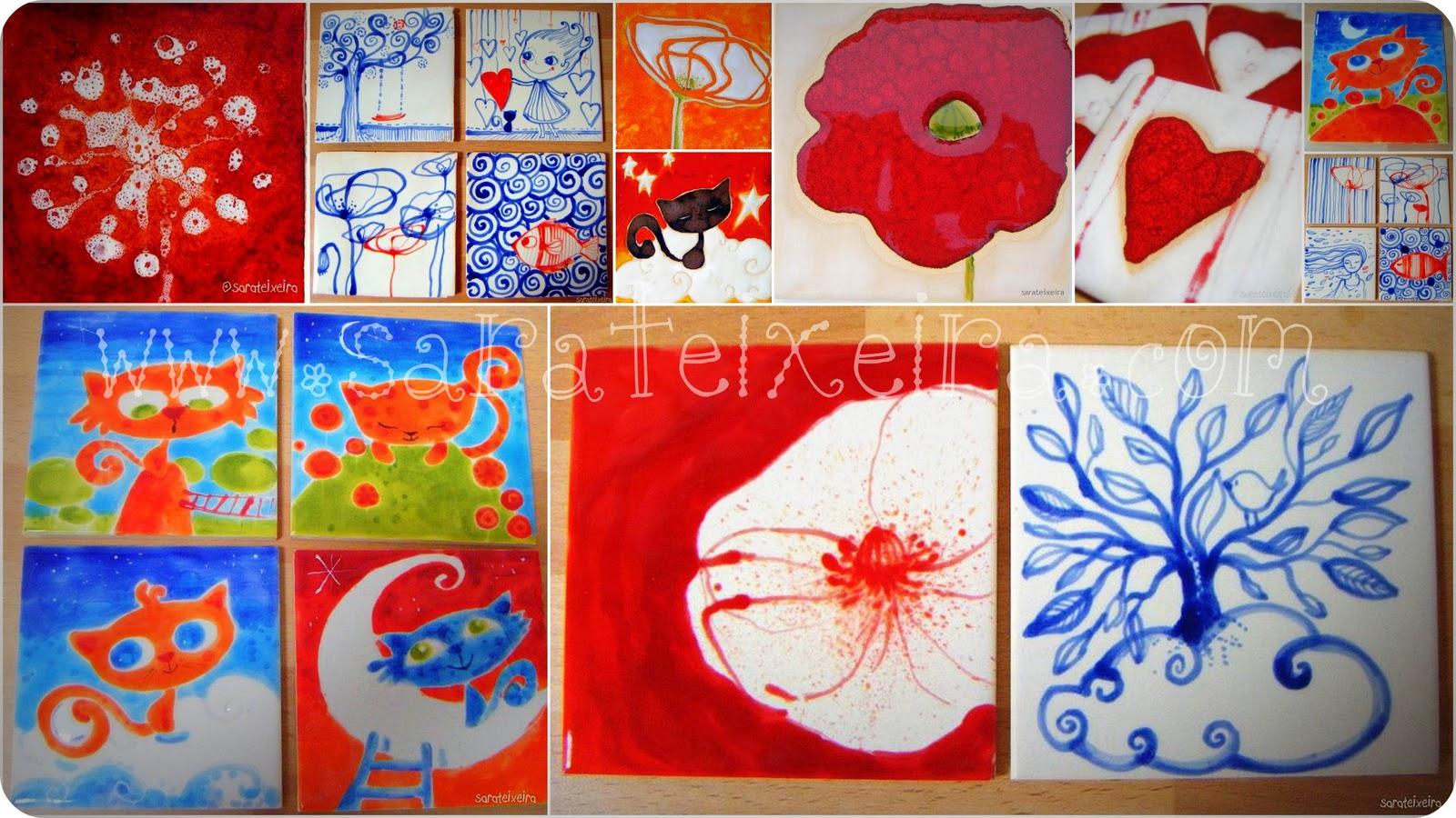 Sara teixeira workshops de pintura intuitiva workshop - Pintura de azulejos ...