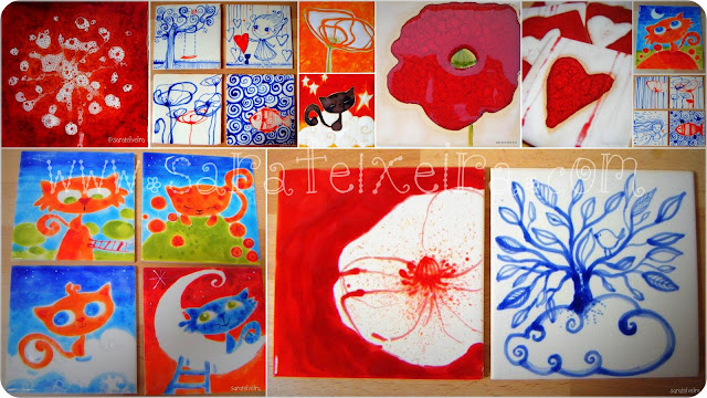 Sara teixeira workshops de pintura intuitiva workshop for Pintura de azulejos