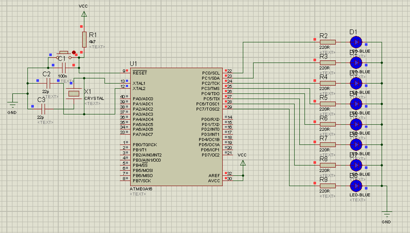 Running Led Atmega Minimum System