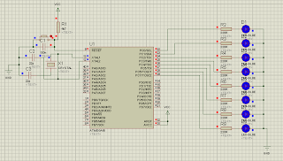 Running Led ATmega16, ATmega8535, ATmega32, Minimum system ATmega16, ATmega8535, ATmega32, Mikrokontroler, http://toko-robot.blogspot.com/