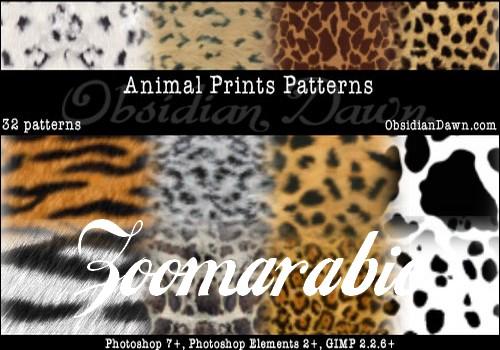 باترن الفوتوشوب بأنماط مطبوعات الحيوان