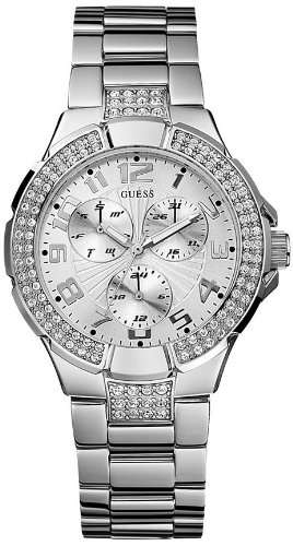 GUESS G12557L Stainless Steel Bracelet Watch - Silver