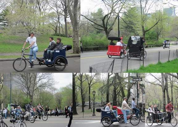 Rickshaws Tours at Central Park, New York