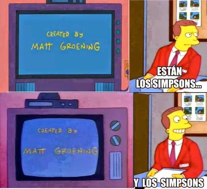 Están Los Simpsons y Los Simpsons