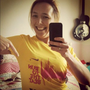 Me and My Run to the Beat Race T shirt - the next time I wear this I may not be smiling