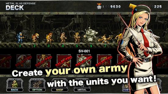 Download Metal Slug Defense v1.30 apk mod unlimited medal money
