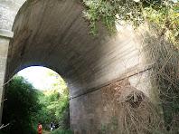 Passant per sota el Pont de les Gitanes