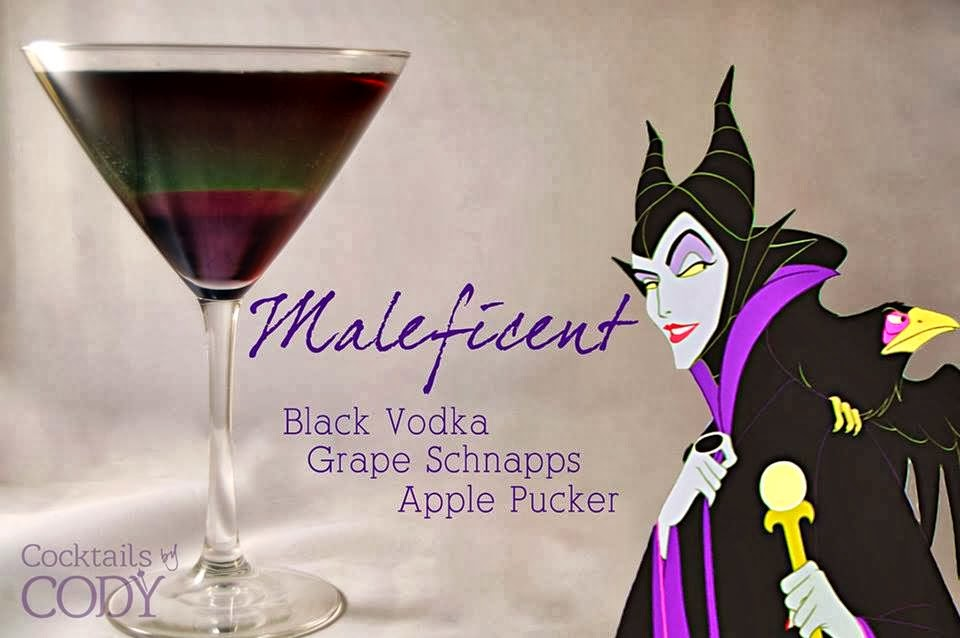Maleficent Disney Cocktail