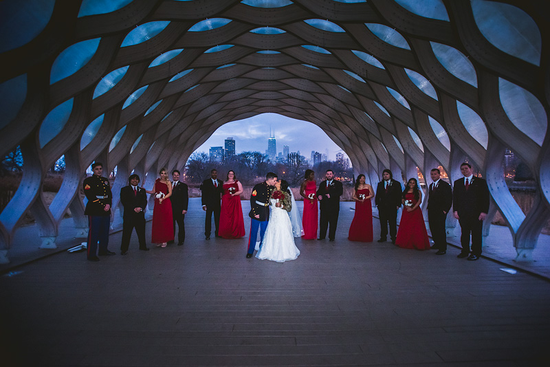 Lincoln Park Chicago Wedding Photo