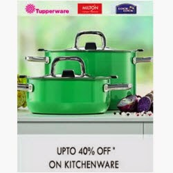 Paytm: Buy Pigeon, Milton, Borosil Kitchenware extra upto 51% cashback