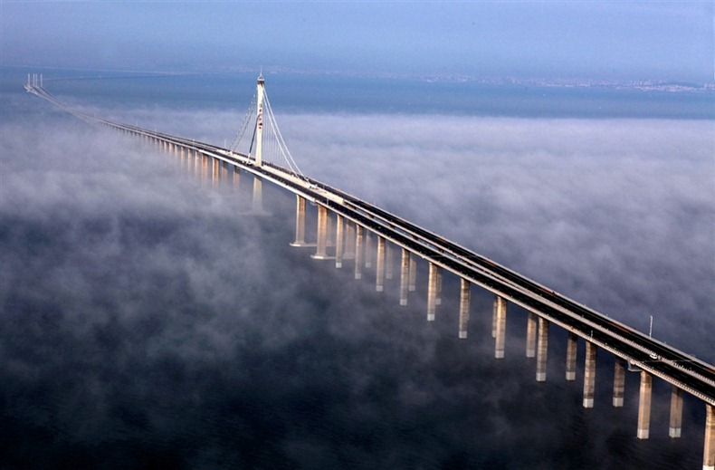 world 39 s longest sea bridge qingdao haiwan myclipta