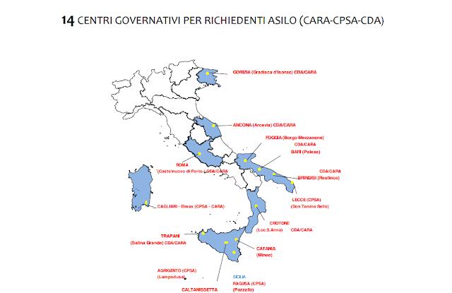 distribuzione migranti in italia