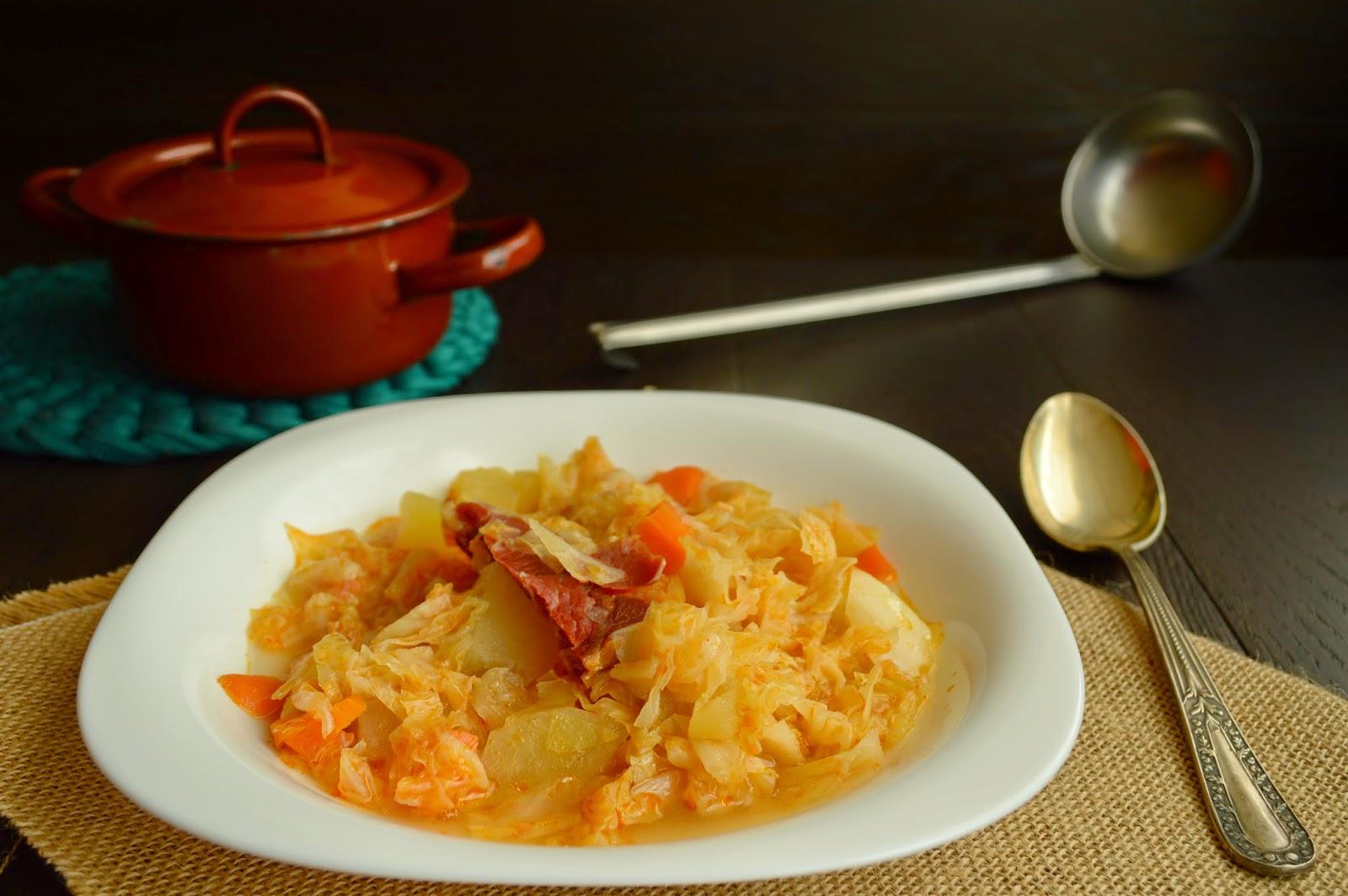 Potaje de verduras y jamón