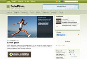 DottedGreen Blogger Template