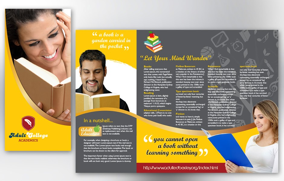 Superb Free Educational Brochure Templates