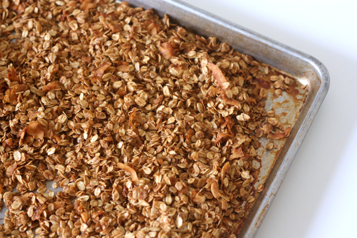 An inexpensive and flavorful granola recipe. Seriously so good!