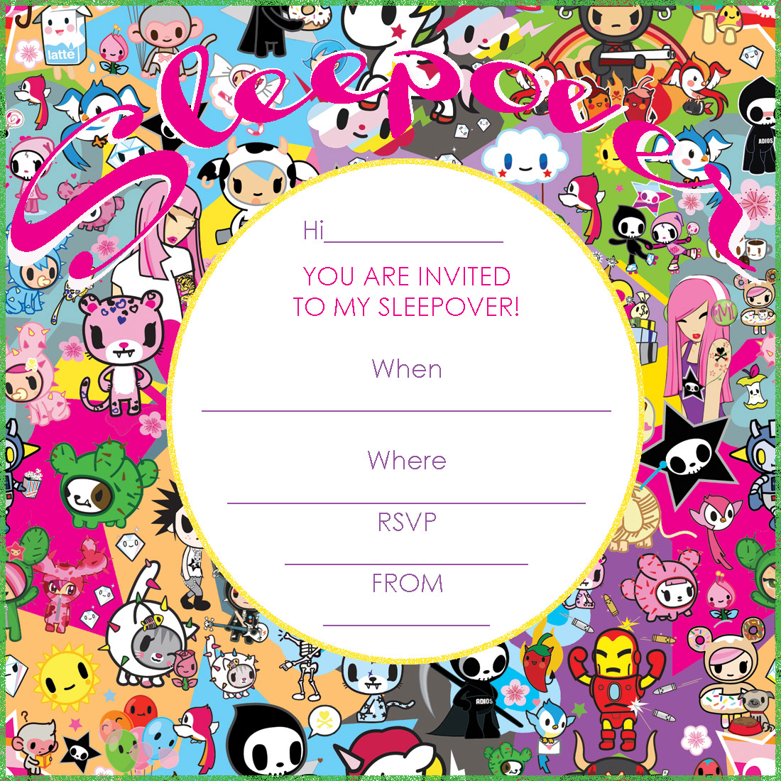 Sleep Over Party Invitations Templates Free
