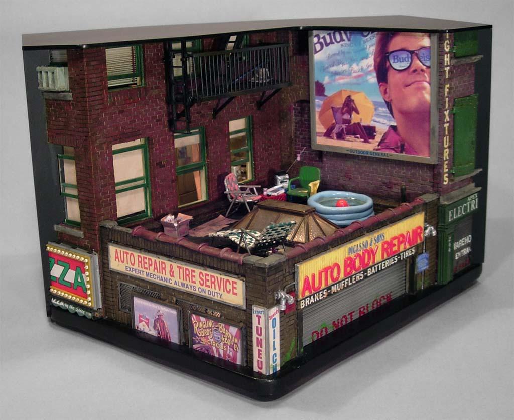 nuncalosabre.Miniature Urban Sculptures - Alan Wolfson