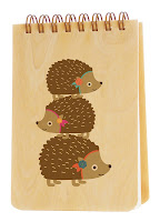 Wooden Hedgehog Eco-chic Notebook