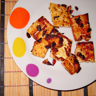 filetes de tofu al ajillo