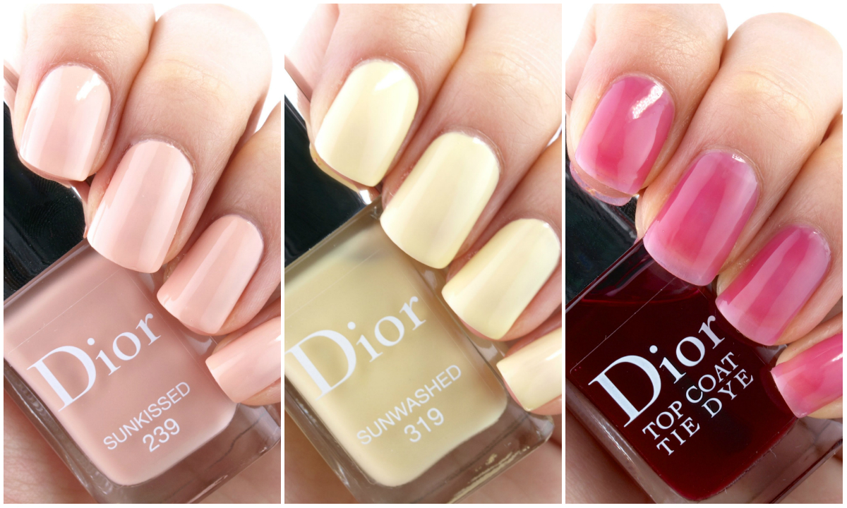 dior summer 2015 tie dye collection nail polish review and swatches