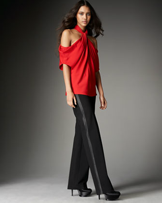 wide leg tuxedo pants for women - Pi Pants