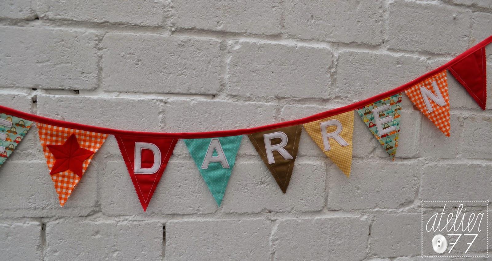 vlaggenslinger garland fabric Lee Darren banner