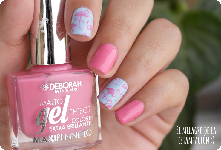 flamingo nails moyou tropical