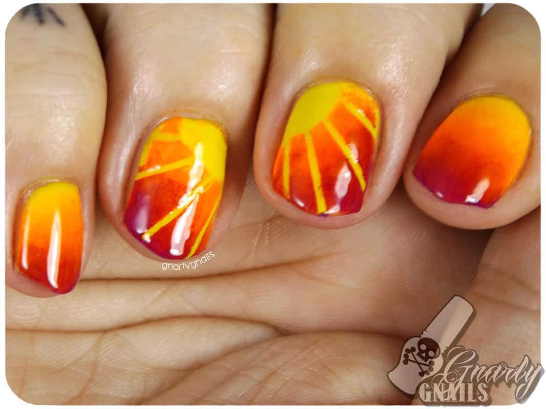 Nail-Art-A-Go-Go - Day 10 - Night Sky - Gnarly Gnails