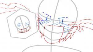 Membuat sketsa wajah Anime