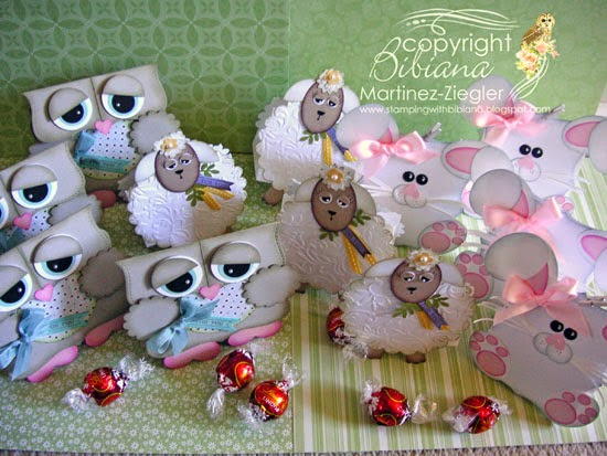 sheep easter candy holder bags