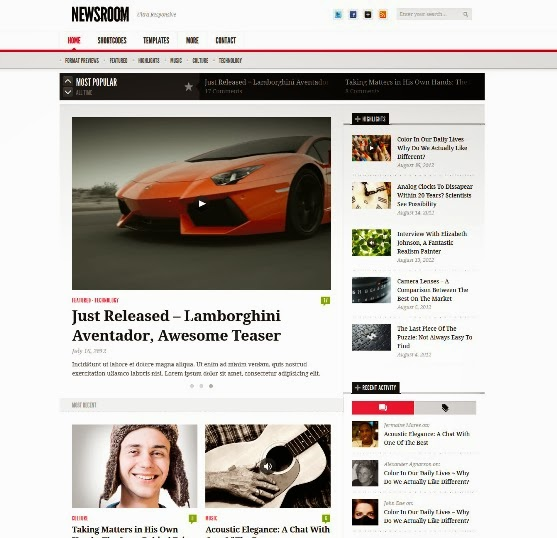 NewsRoom - Responsive News and Magazine Theme