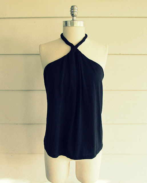 DIY No Sew Halter T-Shirt