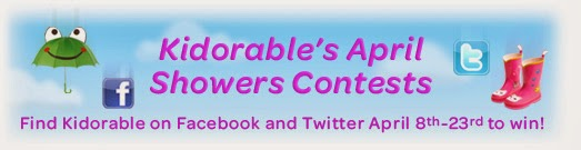kidorable spring showers giveaway banner
