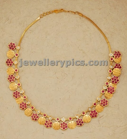 modern kasulaperu short necklace with rubies