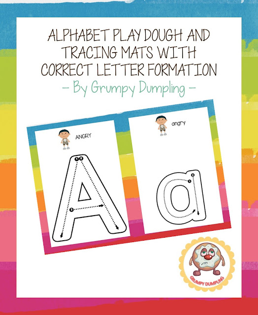 https://www.teacherspayteachers.com/Product/Alphabet-Play-Dough-and-Tracing-Mats-with-Correct-Letter-Formation-2086794