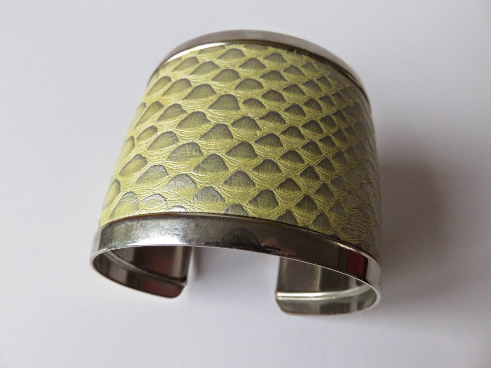 fake snakeskin bracelet