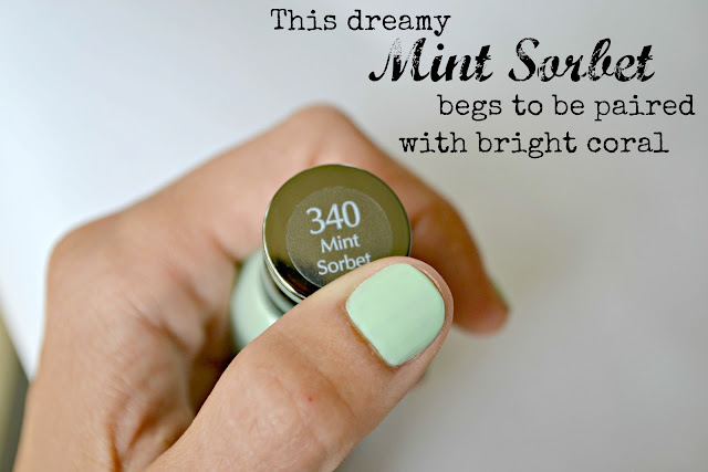 Mommy Testers Sally Hansen Color Block mint green nail art  #IHeartMyNailArt #cbias