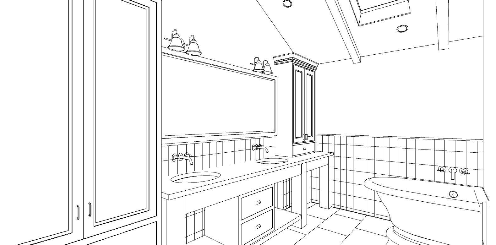Kitchen bath design challenges 2d to 3d for Bathroom design 2d