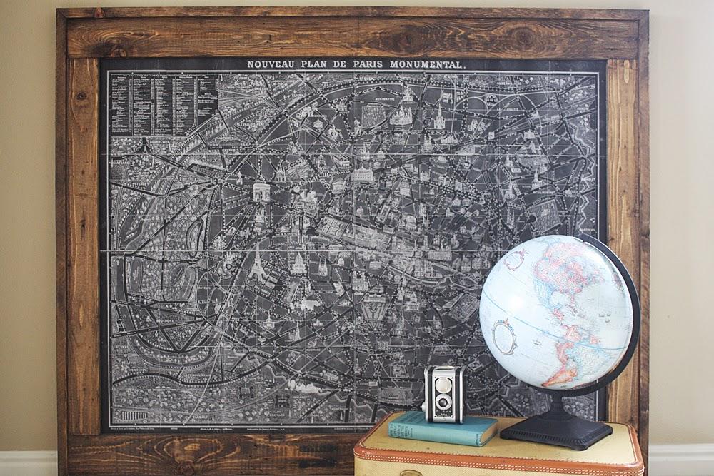 Lost Button Studio Huge Engineer Print Frame - Framing a map print