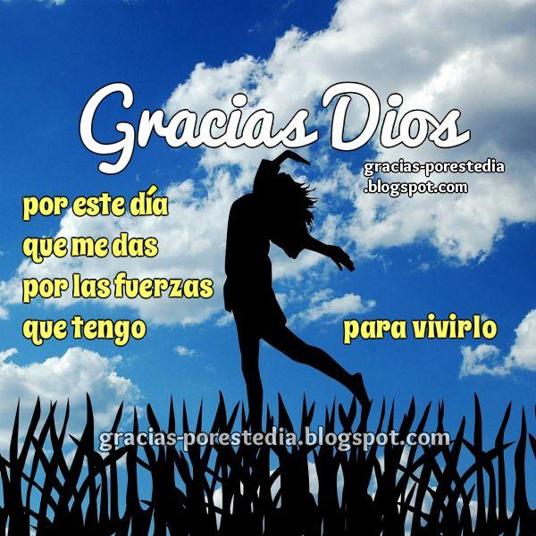 Bonita oración para dar gracias a Dios por el día y por el trabajo, acción de gracias para un día feliz.