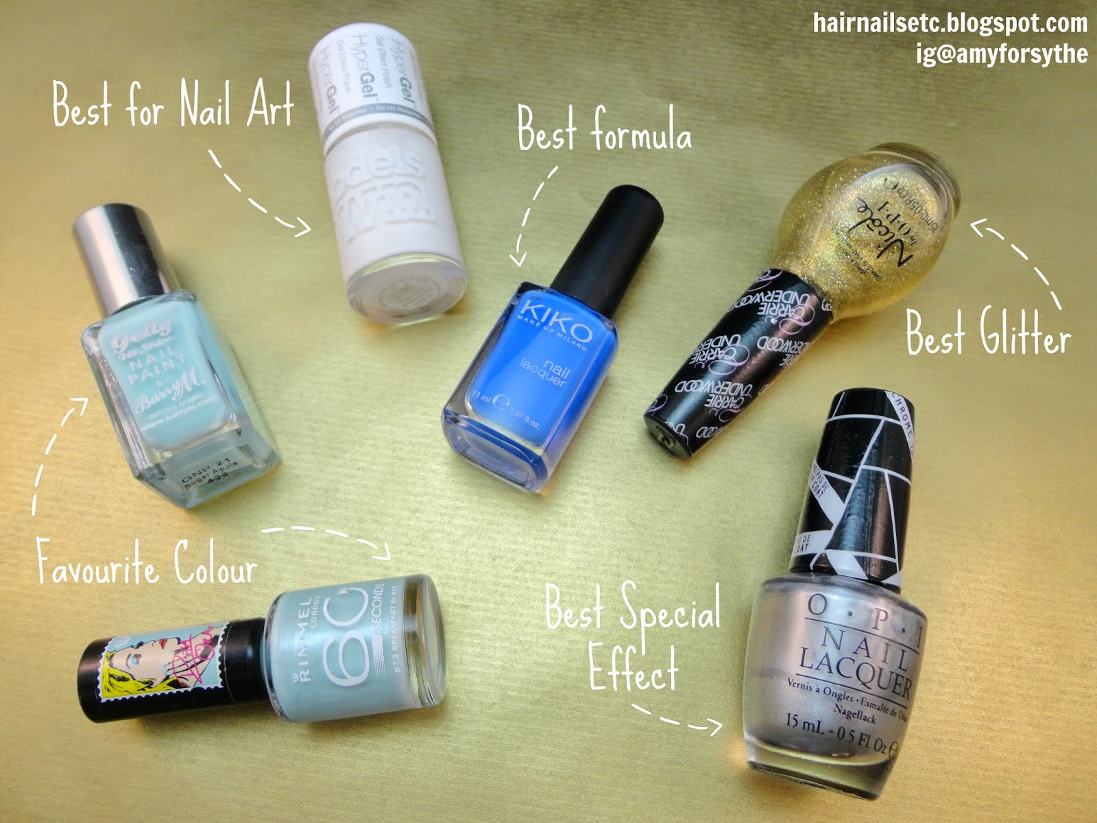 nail polish, 2014, Barry M, Models Own, OPI, NOPI, Kiko, Rimmel