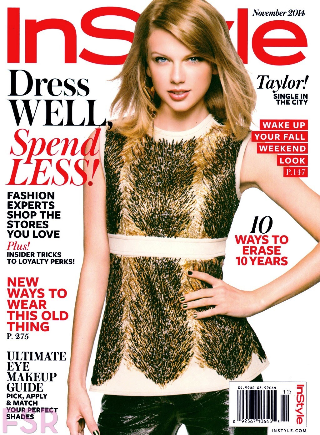 arts cross stitch taylor swift instyle magazine november 2014. Black Bedroom Furniture Sets. Home Design Ideas