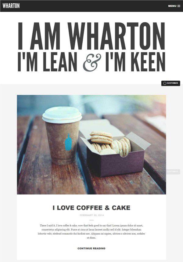 wharton great theme for blogs