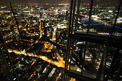 Shard: View west towards London Eye