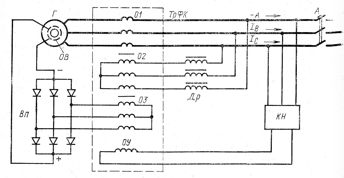 Схема управления напряжением генератора