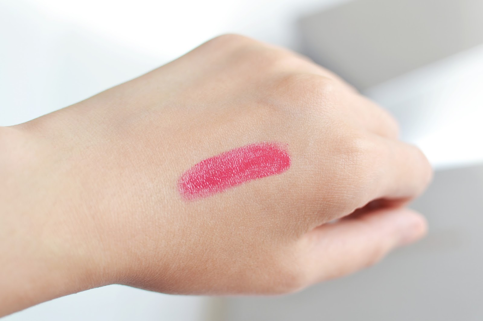 pink lipstick swatch, lipstick for asian skin tone