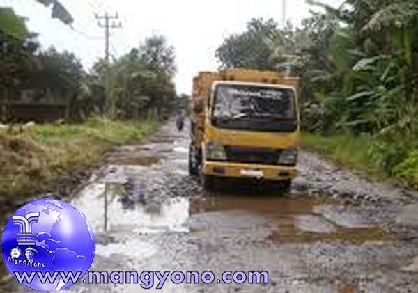 Jalur Saketi ke Malingping, Banten rusak parah