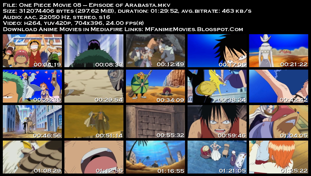 mediafire one piece movie 8 the desert princess and the