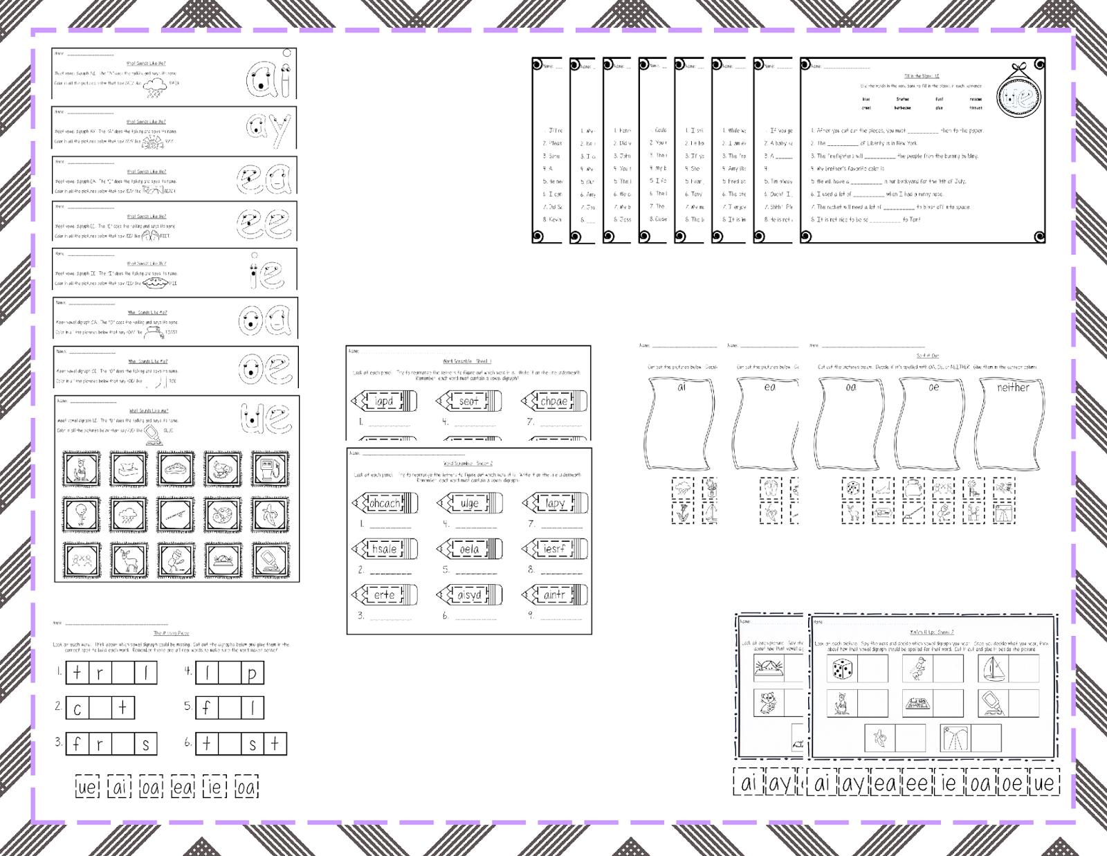 worksheet. Vowel Digraphs Worksheets. Grass Fedjp Worksheet Study Site